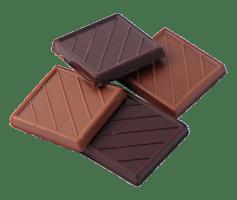Chocolat noir lait fèves praliné de Chocolat d'Evènement