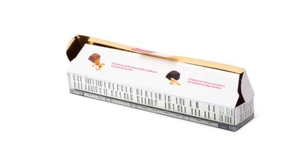 Ballotin personnalisé de 6 chocolats
