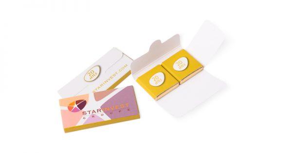 Pochette de 2 chocolats personnalisés