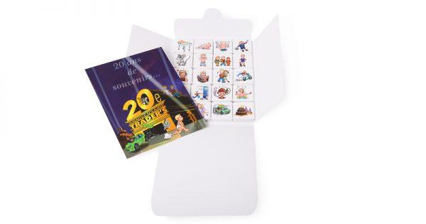 Pochette de 20 chocolats personnalisés