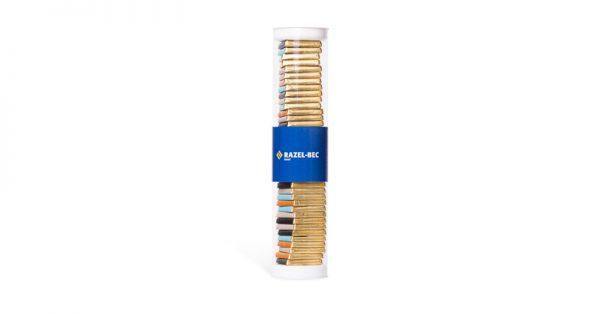 tube transparent de 36 chocolats personnalisés d'entreprise