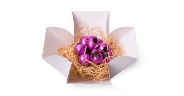 Boite tulipe de 10 mini œufs de Pâques