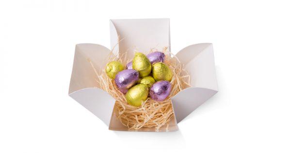 Boite tulipe de 10 mini œufs de Pâques 2
