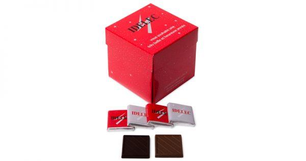Boite tulipe de 40 chocolats personnalisés 3