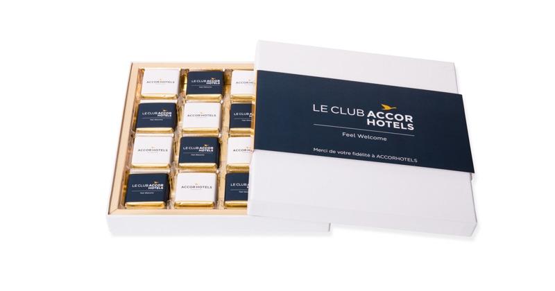 Coffret prestige de 48 chocolats personnalisés