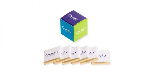 Cube personnalisé de 6 chocolats personnalisés 4