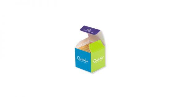 Cube personnalisé de 6 chocolats personnalisés d'entreprise