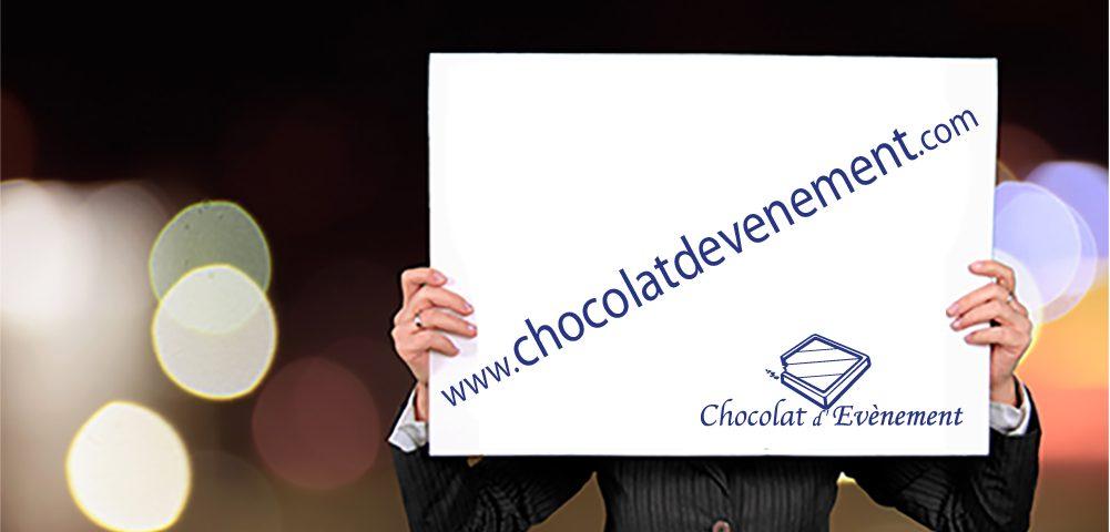 Chocolat d'événement nouveau site internet
